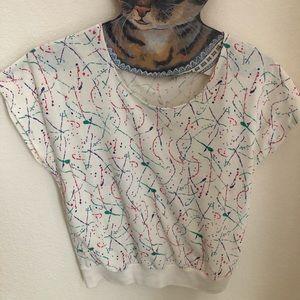 Vintage 90's Paint Splatter Top